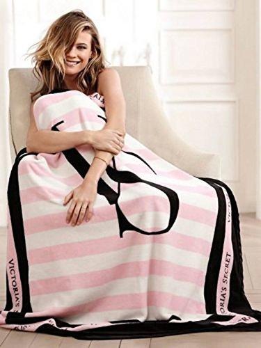 victorias-secret-black-and-pink-striped-blanket-by-victorias-secret-vs-blanket