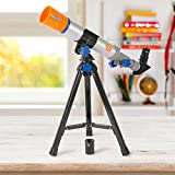 Discovery 40mm Telescope and 900x Microscope Combo Set with Durable Carry Case (4+ Years)