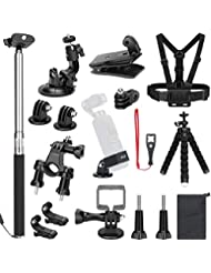 SKYREAT Expansion Accessory Kit for DJI Osmo Pocket Handheld Camera Mounts Chest Strap Bicycle Car Backpack Clip Mount Tripod Holder for Osmo Pocket