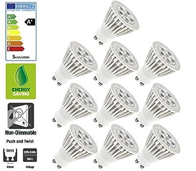 Ultra Bright 3W GU10 LED Bulbs Warm in White by SunSolar - Read Reviews