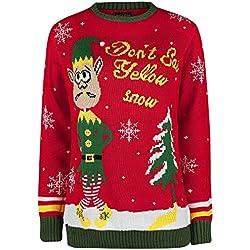 Jersey Navideño Don`t Eat Yellow Snow Christmas Jumper Rojo XL