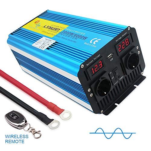 Yinleader Convertisseur 12v 220v Pur Sinus 3000W/6000W convertisseur Pur Sinus (avec télécommande)