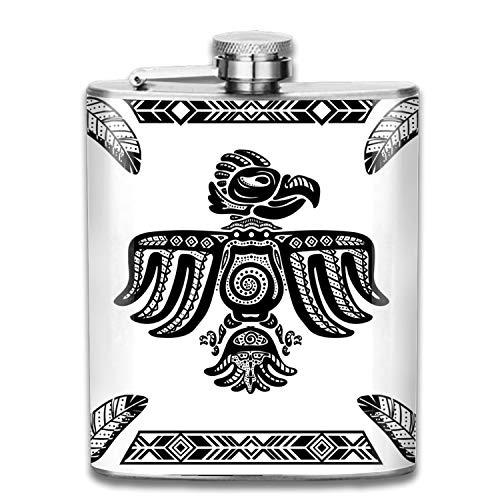 Herz USA Flagge Whisky Flachmann Edelstahl Shot Fläschchen auslaufsicher Cool Geschenk für Herren, Edelstahl, Eagle Arrow3, Einheitsgröße - Eagle Halfter