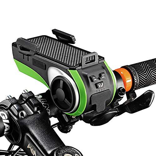 Altavoz Audio Bluetooth 6 1 Bicicleta + Soporte luz
