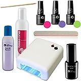 Kit de esmalte de uñas UV con unidad de endurecimiento UV – Esmalte de gel – Shellac