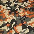 Premier Dog Funky Orange Camouflage Dog Bandana / Scarf