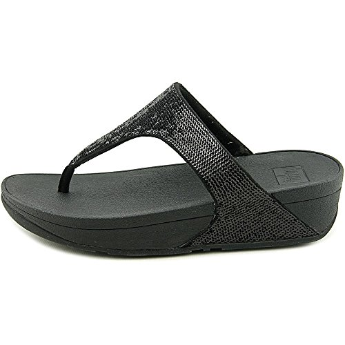 FitFlop Electra Micro Toe-Post Synthétique Tongs Black