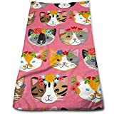 vintage cap Whiskers & Tails Dressy Cats Kitchen Towels - Dish Cloth - Machine Washable Cotton Kitchen Dishcloths,Dish Towel & Tea Towels for Drying,Cleaning,Cooking,Baking (12 X 27.5 Inch)