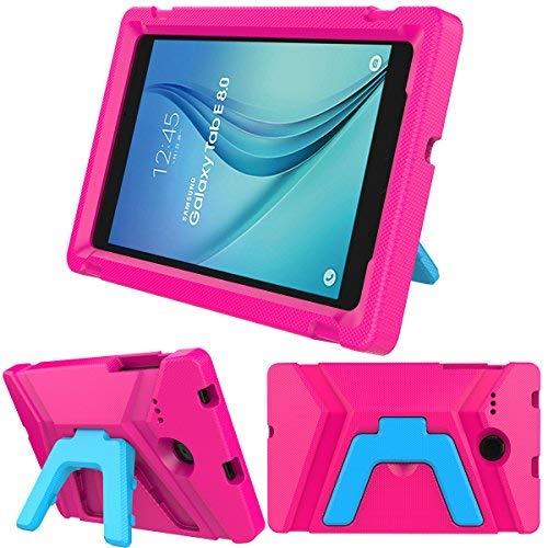 Samsung Galaxy Tab E 8.0 inch Kids Case - Light Weight Shock Proof Kids Friendly Foldable Kickstand Protective Case for Samsung Galaxy Tab E 8-inch Tablet (Rose) (Tablet-cases Für Ein 8-zoll -)