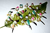 24 st.mini Vögel Deko Echte Federn Styropor Floristik Basteln Hobby Naturgetreu Animals NR.8