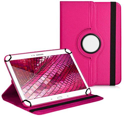 Premium Universal-Hülle für Tablet-PC Blaupunkt Endeavour 1000 QC 10 ZOLL mit DREHFUNKTION und HALTER / STÄNDER-FUNKTION Schutz-Case Flip-Tasche Cover Pink