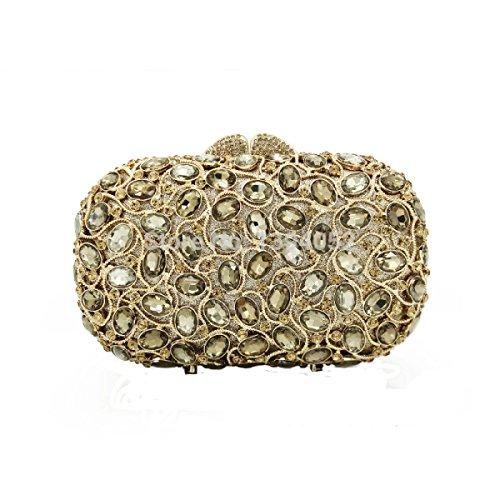 Lady Abendtasche Kristall Diamanten Kleid Handtasche Handtasche E