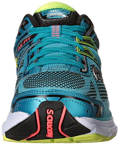 Saucony Mens Hurricane ISO Running Shoe Blue/Lime/Black/White