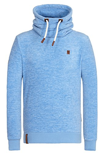 Naketano Male Zipped Jacket Schwanz ist Trumpf III Sky Blue Melange