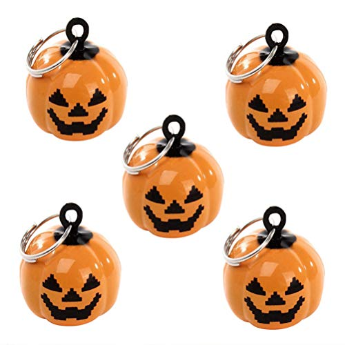 Healifty 20 stücke hundehalsband charme kürbis glocken halloween party hundehalsband halskette dekoration (orange) -