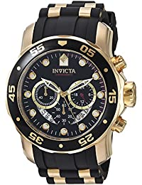 Invicta Pro Diver Men's Chronograph Quartz Watch with Polyurethane Strap – 6981