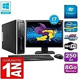 HP PC Compaq Pro 6300 SFF I7-3770 8Go 250Go Graveur DVD WiFi W7 Ecran 17'