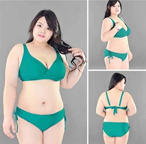 SHISHANG Große Bikini Badeanzug Damen Bademode Europa und den Vereinigten  Staaten schnelltrocknend hoch-elastischen fetten ...