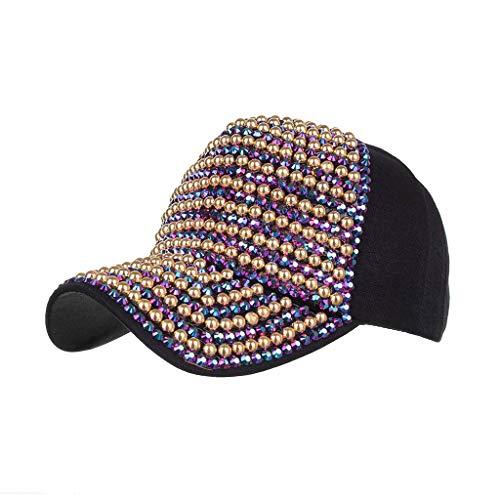 LEEDY Unisex Vintage Vollbohrer Cotton Basecap Snapback Caps mit Mesh Outdoor Baseball Kappe Mütze Damen Herren Gute Qualität Einstellbar Mode Hut