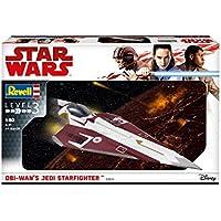 Revell 03614–Maqueta de Star Wars 1: 80–Obi Wan 's Jedi Star Fighter en escala 1: 80, nivel 3, orginalgetreue imitación con muchos detalles