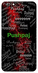 Pushpaj (Born From A Flower) Name & Sign Printed All over customize & Personalized!! Protective back cover for your Smart Phone : Moto G-4-PLAY