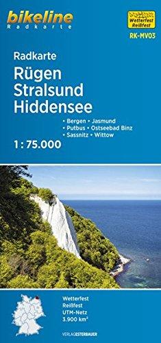 bikeline Radkarte: Rügen Stralsund Hiddensee, Bergen - Putgarten - Sassnitz - Ummanz - Wittow - Jasmund, RK-MV03, 1:75.000, wasserfest/reißfest, GPS-tauglich mit UTM-Netz