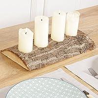 Natur Bark 4 Kegel Kerze Mittelpunkt U2013 Ein Tolles Country Herzstück Für Die  Kaminsims Oder Abendessen