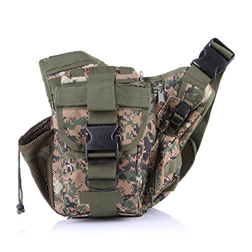 Wewod Hüfttasche Tactical mit Trinkflasche und verstellbarem Bauchgurt/Mode Multifunktionale Gürteltasche Handytasche für Camping Wandern Outdoor Digital-Dschungel