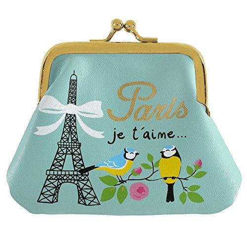 Porte-monnaie Paris je t aime-bleu vert-Dlp