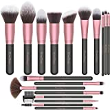 EmaxDesign Make up Pinsel 18 Pcs Professionelle Makeup Pinselset Premium Synthetische Pinsel Pulver...