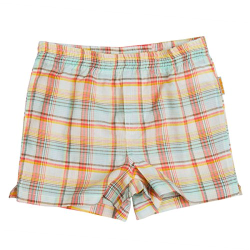 wellyou Kinder Boxershorts Madras Karo orange