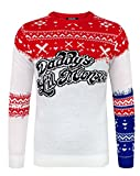 Suicide Squad Daddy's Lil Monster Christmas Jumper (L)