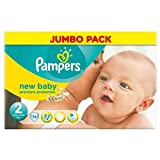 Pampers New Baby Taille 2 Mini 3-6kg (74) - Paquet de 6