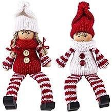 Bonito Invierno de muñecos, decorativa navideña, fieltro y punto, invierno de niños (