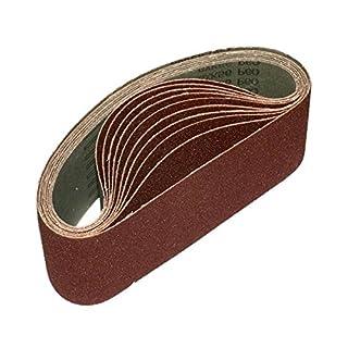 ALEKO 76 x 457 mm 180 Grit Aluminum Oxide Sanding Belt, 10-Pack