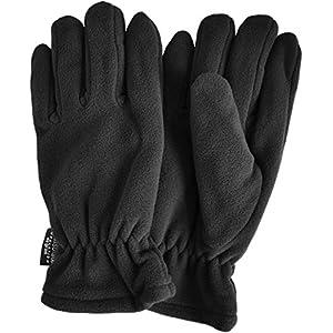 normani Winter Fleece Handschuhe Schwarz mit Thinsulatefütterung bis -10 Grad