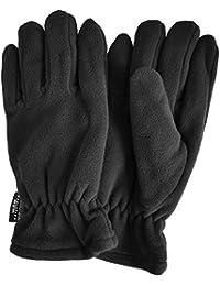 Winter Fleece Handschuhe Schwarz mit Thinsulatefütterung bis -10 Grad