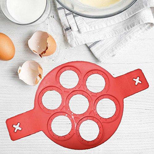 Premium Pancake Maker, Pfannkuchen Form, Silikon Küchenhelfer, mit GRATIS Rezeptheft, 100 % BPA frei, FDA geprüft
