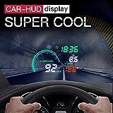 MOGOI Head Up Display, 5.5 Inch Universal Car HUD Head Up Display Car