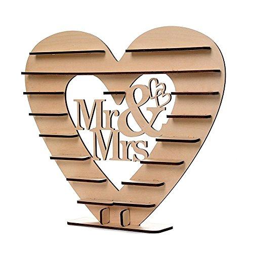 HEIßER VERKAUF Mr & Mrs Schokolade Herz Baum Hochzeit Display-ständer Herzstück (Herzstück Baum)