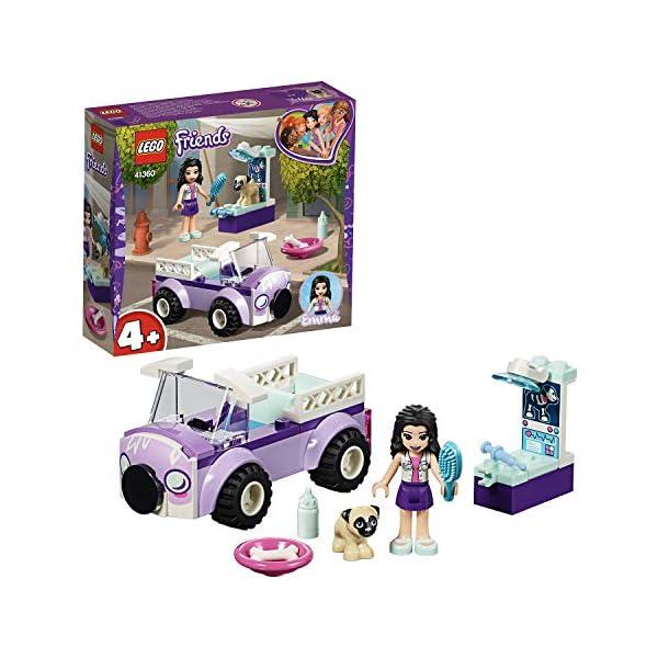 LEGO - Friends La clinica veterinaria mobile di Emma, con Mini-doll e Cane Inclusi, Kit Giocattolo per Bambini, Idea… 1 spesavip