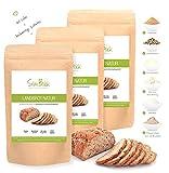 SlimBack - Lower Carb Landbrot Natur - 3er Pack (Ergibt ca. 1440g) - Eiweißbrot Backmischung - Weniger Kohlenhydrate* | Glutenfrei | Ballaststoffreich | Eiweißreich | Sojafrei | Brot Ohne Getreide