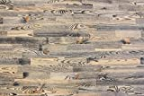 wodewa Vintage Optik/Style Echtholz 1m Wandverkleidung Holz Paneele, rustikal Massivholz