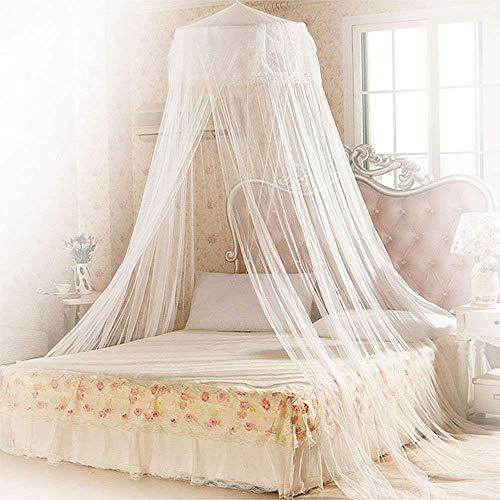 Mopalwin Moskitonetz Baldachin, Moskitonetze für bett Fliegennetz Mückennetz Premium&größte Insektennetz für doppelbett - Weiß (Vorhänge Baldachin)