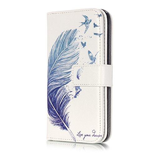 Samsung Galaxy A3 (2016), Sunroyal® Custodia in Pelle, in Piedi la Vista Diario Custodia Copertura di Vibrazione Portafoglio Flip Cover con Chiusura Magnetica per Samsung Galaxy A3 (2016) SM-A310F (Pi Modello 17