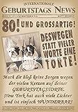 Glückwunschkarte zum Geburtstag ~ 80 und grossartig!