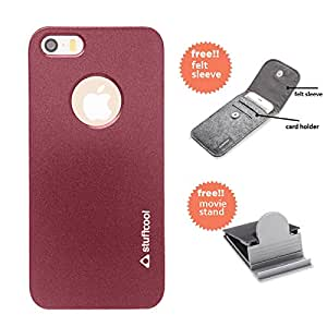 Stuffcool Element Hard Back Case Cover for Apple iPhone 5 / 5S / SE - Red (EMIP5S-RED)