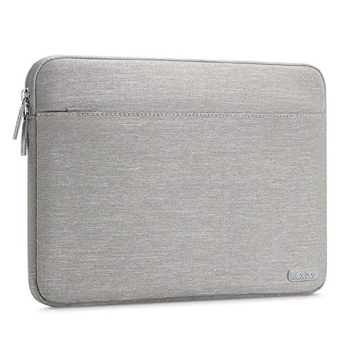 MOSISO Sleeve Hülle Kompatibel 15-15,6 Zoll MacBook Pro, Notebook Computer, Polyester Gewebe schützende Horizontal Laptophülle Schutzhülle Laptoptasche Notebooktasche, Grau