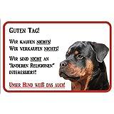 """Schild Vorsicht Rottweiler """"Wir kaufen nichts"""" 15x20, 20x30, 30x40 oder 40x60cm (20x30cm)"""