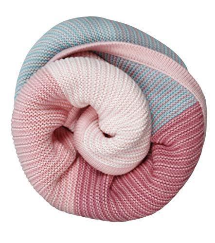100% Baumwolldecke für Babys und Kinder rosa (Gestrickte Baumwolle Hand)